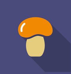 mushroom flat icon colorful logo vector image