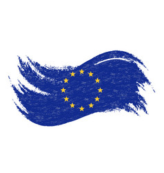 national flag of the european union designed vector image