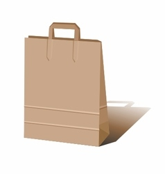 Paper bag for shopping and gifts vector