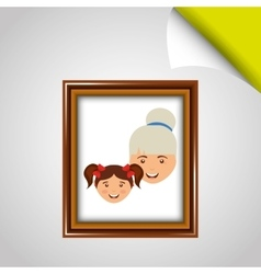 Parent picture design vector