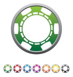 Poker Chips Set vector