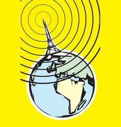 Radio Broadcast Earth vector image