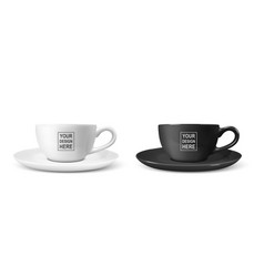 Realistic 3d blank white and black coffee vector