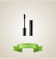 realistic mascara element of vector image
