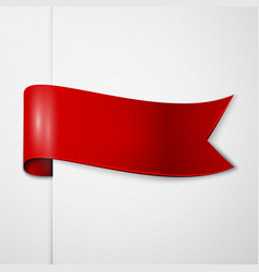 Realistic shiny red ribbon isolated vector