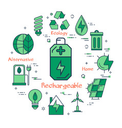 rechargeable battery vector image
