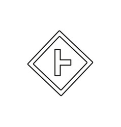 right turn road sign icon vector image