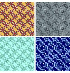 seamless hexagon pattern set vector image