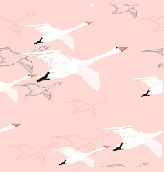 seamless pattern of drawing flying vector image