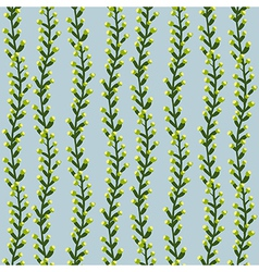 Seamless striped texture with plants vector image