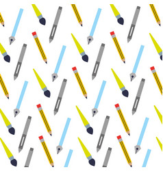 set school supplies pattern vector image