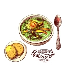Soup for dinner vector