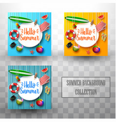 summer template background collections vector image