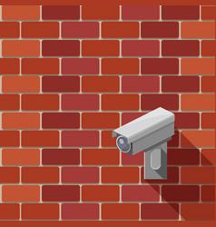 surveillance camera isometric vector image