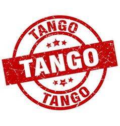 Tango round red grunge stamp vector