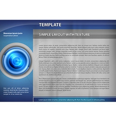 template blue target vector image