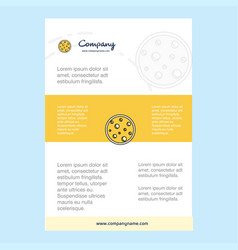 template layout for moon comany profile annual vector image