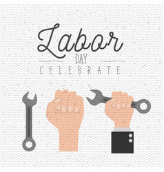 white background with zigzag lines of labor day vector image