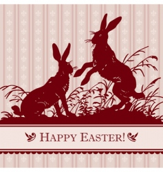 antique Easter background vector image vector image