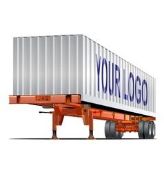 Cargo semi trailer vector image vector image