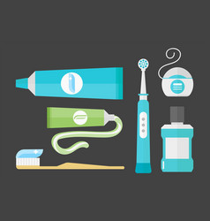 flat health care dentist chemical color medical vector image