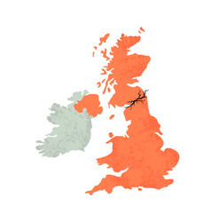 Map of united kingdom with crack vector