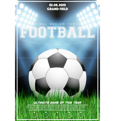 poster template of football tournament vector image vector image