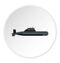 Submarine icon flat style vector image