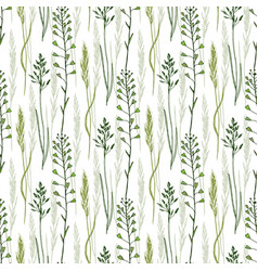 wild flowers seamless pattern background eco vector image
