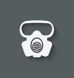 biohazard protection mask vector image