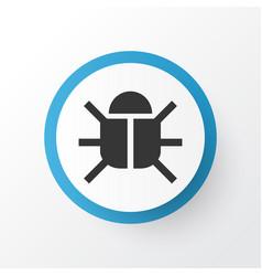 bug icon symbol premium quality isolated virus vector image vector image