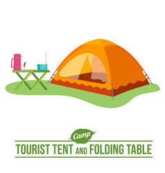 camping flat icon vector image vector image