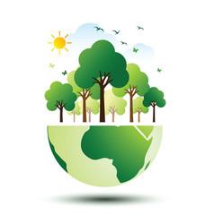 green eco earth 2 vector image vector image