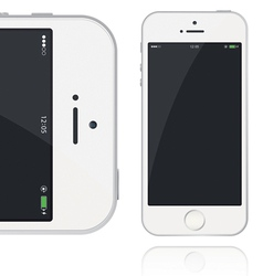 Realistic Phone five vector image