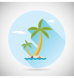 Sea beach holiday vacation symbol ocean island vector