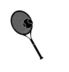 tennis racket and ball sport design pictogram vector image vector image