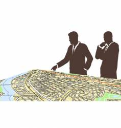 city planners vector image vector image