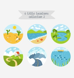 Little locations collection 2 vector image vector image