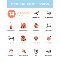 Medical professions - modern simple thin line vector
