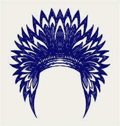 Native american indian headdress vector