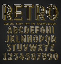 Retro Font with shadow vector image vector image