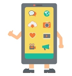 Smartphone with arms and legs vector image vector image