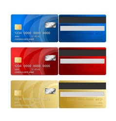 Credit card two sides vector