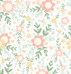 Decorative flowers seamless pattern vector image