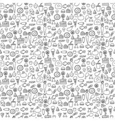 Doodles seamless pattern set vector image vector image