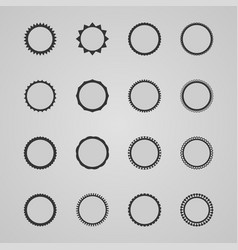set of design abstract labels vector image vector image