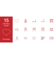 15 playing icons vector