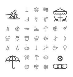 37 season icons vector image