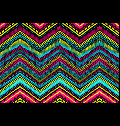 Abstract ikat and boho style handcraft fabric vector
