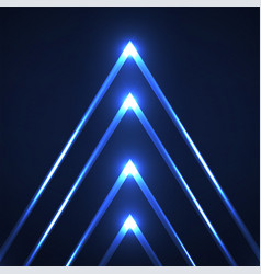 abstract neon triangles with glowing lines vector image